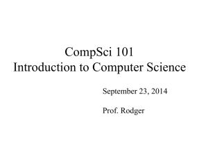 CompSci 6 Programming Design and Analysis