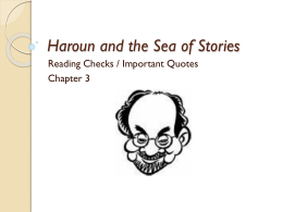 characters in haroun and the sea of stories