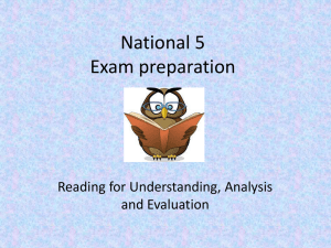 National 5 Exam preparation