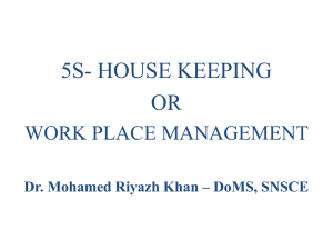 House Keeping - 5S