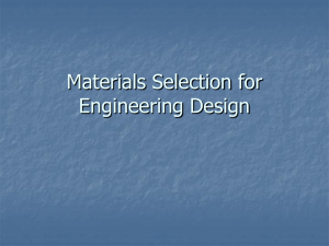 Materials Selection for Engineering Design