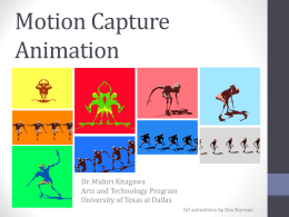 Motion Capture Laboratory - The University of Texas at Dallas