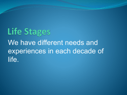 Life Stages - Palomar College