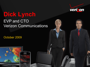 Richard Lynch, EVP & CTO Verizon Communications
