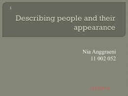 Describing people and their appearance