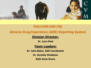 FDA Adverse Drug Experiences