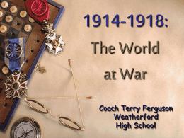 unit 8 world war 1 - Weatherford High School