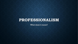 Professionalism - Cloudfront.net