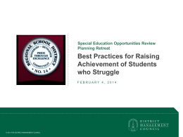 District Management Council Best Practices Report 2-3-14