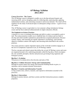 Course Syllabus - Bishop Ireton High School