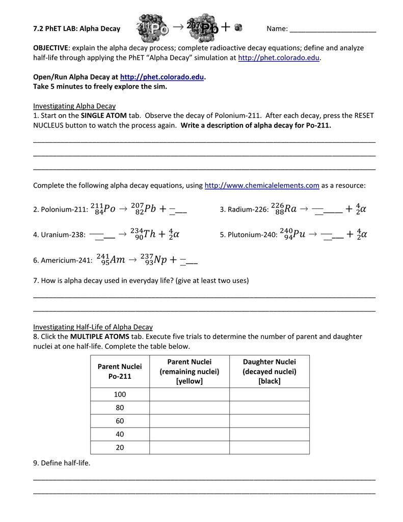 32 Alpha And Beta Decay Worksheet With Answers Free Worksheet Spreadsheet [ 1024 x 791 Pixel ]