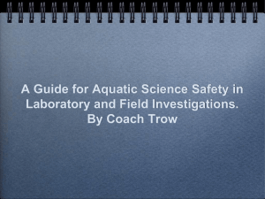 A Guide for Aquatic Science Safety in Laboratory and Field