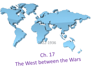 Ch. 17 The West between the Wars