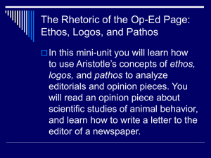 The Rhetoric of the Op-Ed Page: Ethos, Logos, and