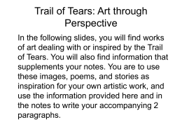 Trail of tears essay