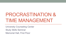 Procrastination & Time Management