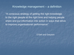 Knowledge management 18