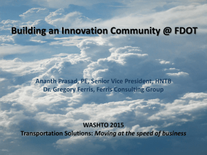 Building an Innovation Community @ FDOT