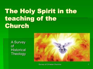 The Holy Spirit in the teaching of the Church