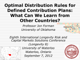 Optimal Distribution Rules for Defined Contribution Plans
