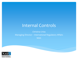 All Elements Contribute to an Effective System of Internal Controls