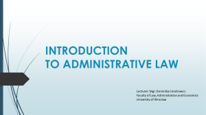 Cendrowicz_Introduction to Administrative Law