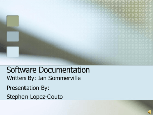 Software Documentation Ian Sommerville