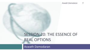 Session 20- Introduction to Real options