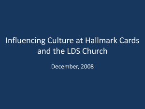 Influencing Culture at Hallmark Cards and the LDS Church