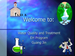 Introduction to Water Quality