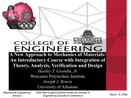 College of Engineering - Worcester Polytechnic Institute
