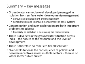 Summary * Key messages - Proposed Project Summary