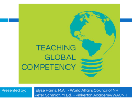 TEACHING GLOBAL COMPETENCY - World Affairs Council of New