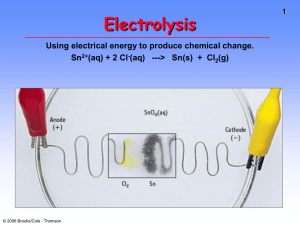 Unit 6 Lecture 3 Electrolysis