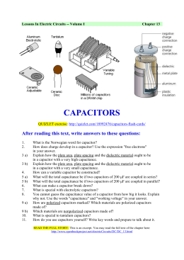Capacitors - English wiki for Mo og Øyrane