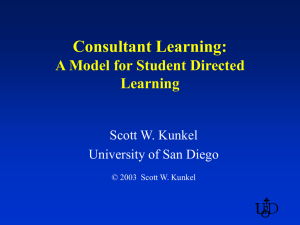 Consultant Learning - University of San Diego Home Pages