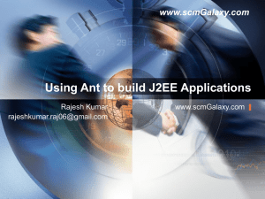 Using Ant to build J2EE Applications