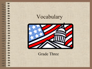 Government Vocabulary
