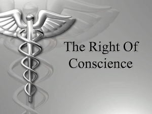 Healthcare Right of Conscience PowerPoint