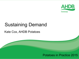 AHDB Potatoes consumer marketing update
