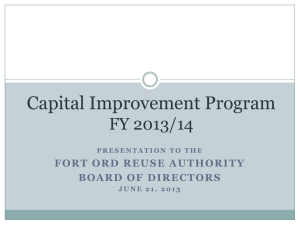 Capital Improvement Program Review