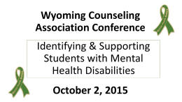 PowerPoint Presentation - Wyoming Counseling Association