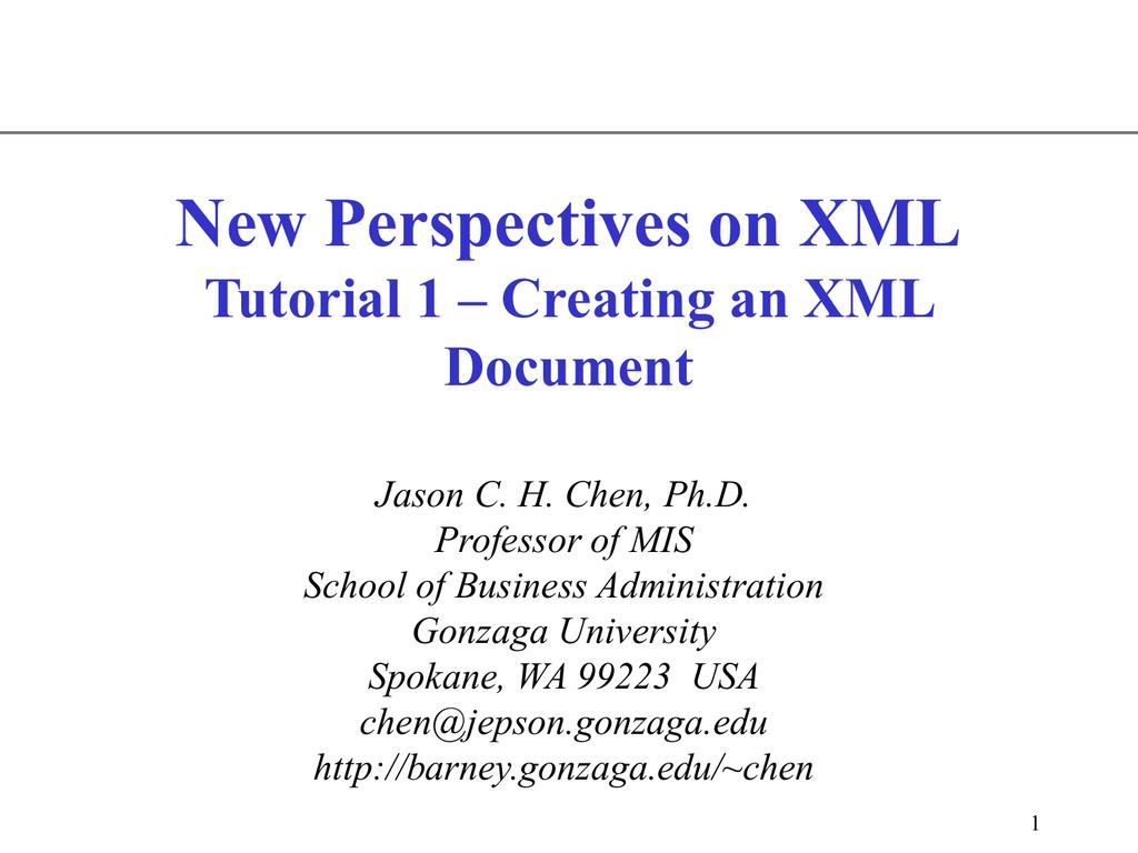 XML - Gonzaga University