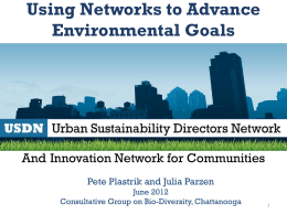 Using Networks to Advance Environmental Goals