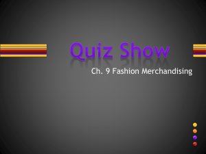 Ch. 9 Quiz Show Review Game