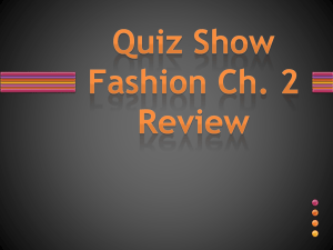 Ch. 2 Quiz Show Review