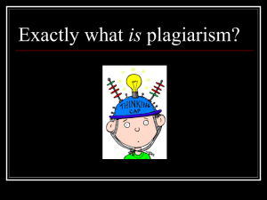 Exactly what is plagiarism?