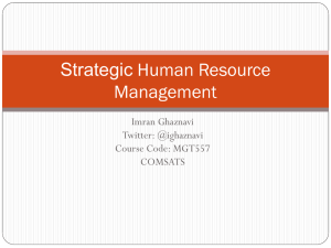 Strategic Human Resource Management 11