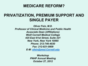 Medicare Reform? - Physicians for a National Health Program