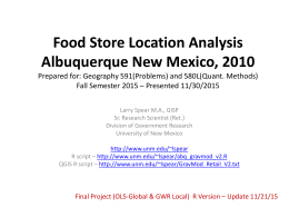 Albuquerque Food Store Location Analysis, 2010